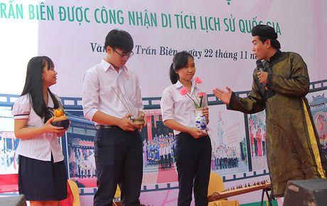 Lan dau tien dua van hoa Nam Bo vao khu di tich - Anh 1