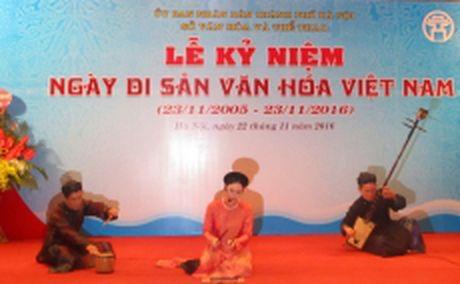 Nhieu hoat dong ky niem Ngay Di san Viet Nam - Anh 1