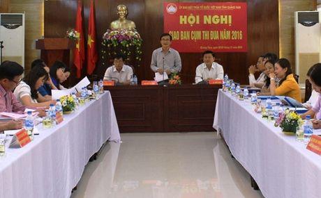 MTTQ Quang Nam: giao ban cum thi dua dong bang nam 2016 - Anh 1