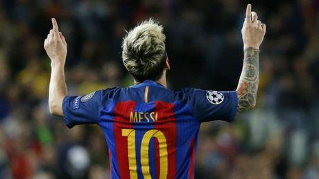 Messi khong co doi thu o Champions League mua nay - Anh 11