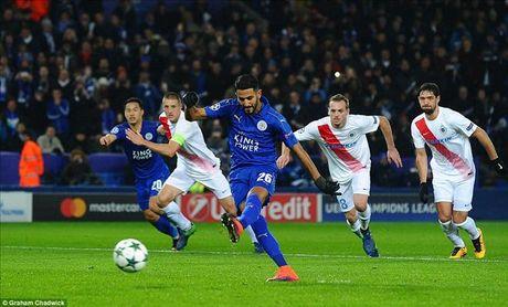 Okazaki va Riyad Mahrez lap cong, Leicester lap ky tich tai Champions League - Anh 3