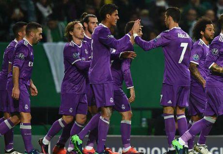 Ronaldo tit ngoi, Real 'thang nhoc' truoc 10 nguoi cua Sporting CP - Anh 1