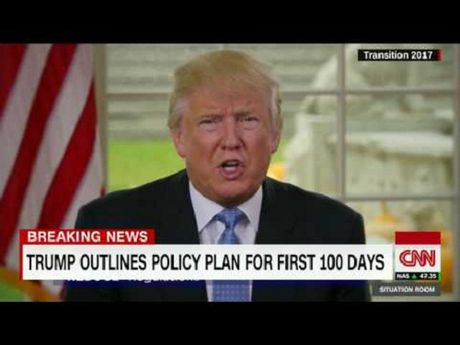 Donald Trump va ke hoach chinh thuc cho 100 ngay dau tien sau nham chuc - Anh 1