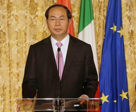 Chu tich nuoc Tran Dai Quang du Dien dan Doanh nghiep Viet Nam-Italy - Anh 1