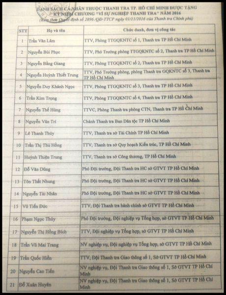 """Trao tang ky niem chuong """"Vi su nghiep thanh tra"""" cho 59 ca nhan - Anh 5"""