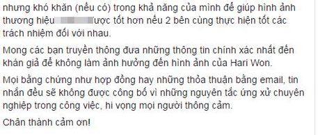 Hari Won len tieng khi bi to thuong hieu giay do co sang lap no luong - Anh 4