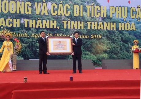 Thanh Hoa: Don bang di tich quoc gia dac biet Hang Con Moong - Anh 1