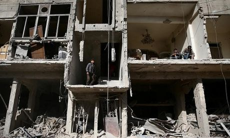 Canh tan hoang o thu do Damascus trong chien tranh - Anh 1