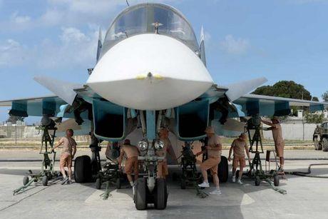 Khong kich cuong do cao o Syria, Su-34 troc ca son - Anh 1