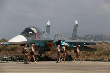 Khong kich cuong do cao o Syria, Su-34 troc ca son - Anh 2