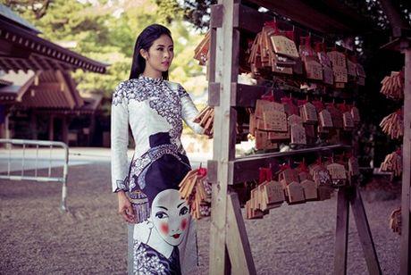 Ngoc Han khoe dang voi ao dai tai Nhat Ban - Anh 4