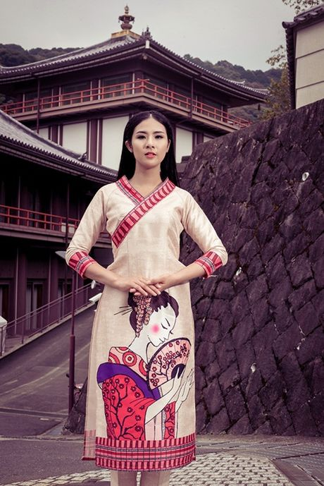 Ngoc Han khoe dang voi ao dai tai Nhat Ban - Anh 7