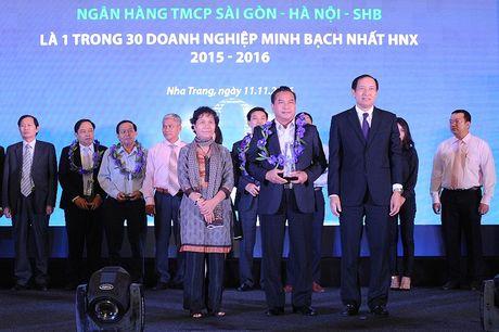SHB 4 nam lien tiep duoc vinh danh Top 30 doanh nghiep minh bach nhat HNX - Anh 1