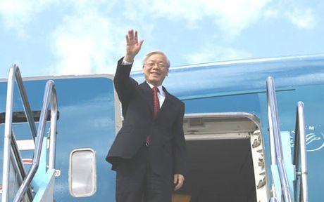 Tong Bi thu Nguyen Phu Trong tham huu nghi chinh thuc CHDCND Lao - Anh 1
