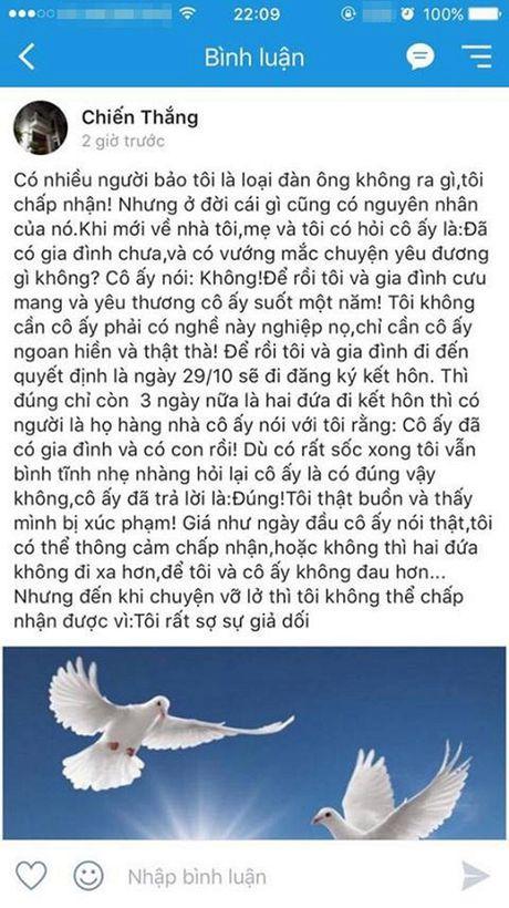 Danh hai Chien Thang nghi ban gai den voi minh la 'am muu' tien than showbiz - Anh 3