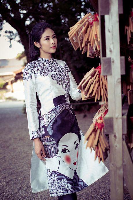 Hoa hau Ngoc Han chup anh ao dai tai Nhat Ban - Anh 8