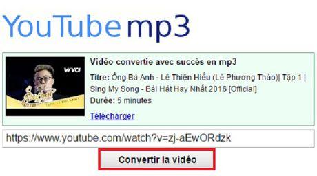 Huong dan tai nhac MP3 tu video tren Youtube khong can phan mem - Anh 2