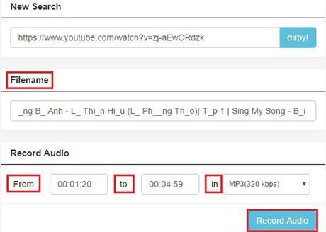 Huong dan tai nhac MP3 tu video tren Youtube khong can phan mem - Anh 4