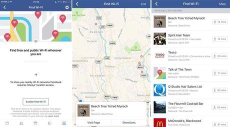 Facebook thu nghiem tinh nang tim wifi mien phi - Anh 2