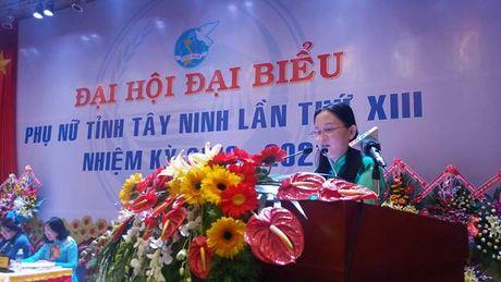 Ba Vo Thi Bach Tuyet tai dac cu Chu tich Hoi LHPN tinh Tay Ninh - Anh 3