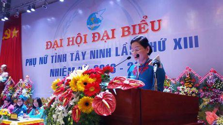 Ba Vo Thi Bach Tuyet tai dac cu Chu tich Hoi LHPN tinh Tay Ninh - Anh 4
