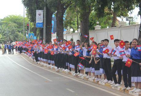Hinh anh: Le don trong the Tong Bi thu Nguyen Phu Trong tai Vientiane - Anh 8
