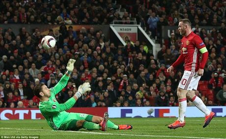 Wayne Rooney lap ky luc ghi ban cho MU tai cup chau Au - Anh 1