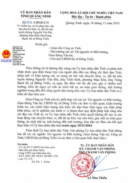 Quang Ninh kiem soat xe cho than sau khi dan goi duong day nong - Anh 2