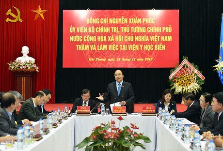 Thu tuong Nguyen Xuan Phuc: Dua Vien Y hoc bien len ngang tam khu vuc - Anh 1