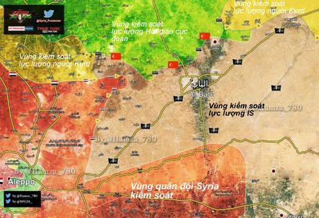 Quan doi Syria, nguoi Kurd tung don danh IS phia dong Aleppo - Anh 1