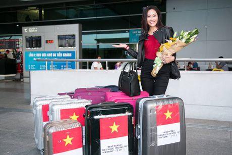 Dieu Ngoc mang 100kg hanh ly sang My thi Miss World 2016 - Anh 1