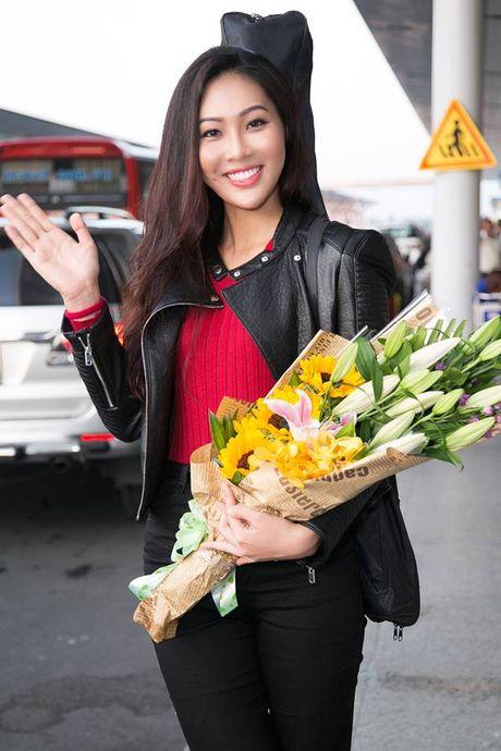 Dieu Ngoc mang 100kg hanh ly sang My thi Miss World 2016 - Anh 5