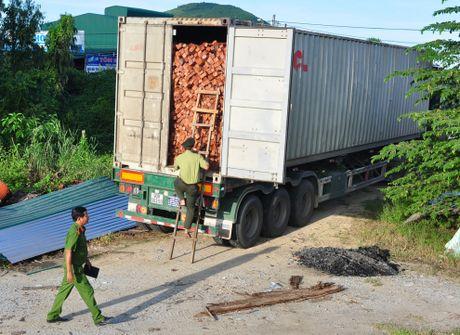 Tam giu xe container cho hang chuc tan lam san quy hiem - Anh 1