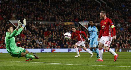 MU vs Feyenoord (1-0, H1): Rooney toa sang - Anh 2