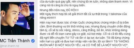 Tran Thanh: 'Toi va Hari Won tung muon tu tu vai lan' - Anh 1