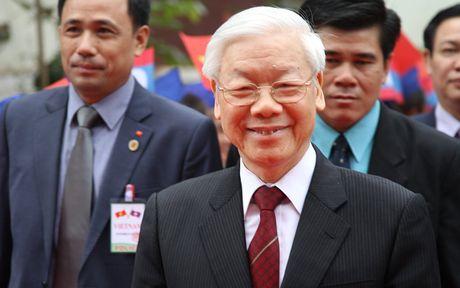 Hinh anh: Tong Bi thu Nguyen Phu Trong noi chuyen voi sinh vien Lao - Anh 1