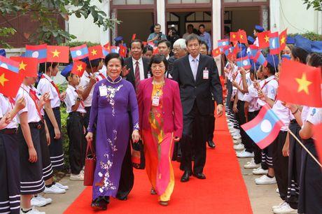 Hinh anh: Tong Bi thu Nguyen Phu Trong noi chuyen voi sinh vien Lao - Anh 2