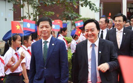 Hinh anh: Tong Bi thu Nguyen Phu Trong noi chuyen voi sinh vien Lao - Anh 3
