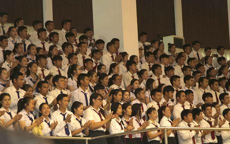 Hinh anh: Tong Bi thu Nguyen Phu Trong noi chuyen voi sinh vien Lao - Anh 6