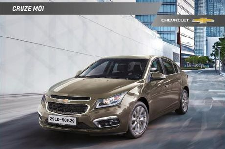 Chevrolet Cruze 2016 ban nang cap gia 589 trieu tai VN - Anh 1