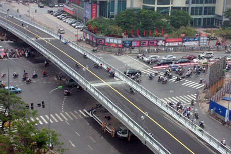 Ha Noi: Tam dong cua cau vuot Huynh Thuc Khang - Thai Ha - Anh 1