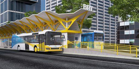 Ha Noi: Gap rut dua tuyen buyt nhanh BRT vao hoat dong - Anh 2