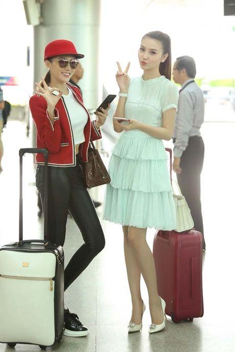 Ngoc Duyen cung hoc tro Ha Ho len duong den Victoria's Secret 2016 - Anh 1