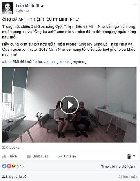 Le Thien Hieu cung Minh Nhu X-Factor lam moi 'Ong ba anh' sieu de thuong - Anh 2