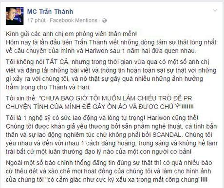 Tran Thanh tiet lo Hari Won bi tram cam nang tung muon tu tu, cau xin duoc 'buong tha' - Anh 4