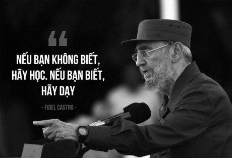 Fidel Castro: Cuba khong co tre that hoc vi doi ngheo - Anh 1