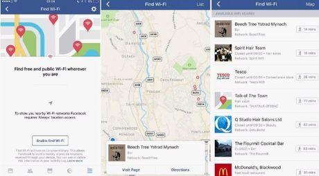 Facebook thu nghiem tinh nang tim Wi-Fi mien phi - Anh 1