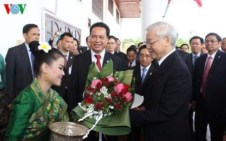 Tong Bi thu Nguyen Phu Trong tham tinh Bolykhamxay cua Lao - Anh 1