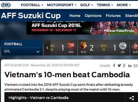Bao quoc te an tuong khi 10 cau thu Viet Nam ha Campuchia - Anh 2