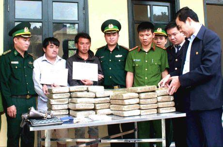 Ha Tinh: Bat 2 doi tuong nguoi Lao van chuyen 60 banh ma tuy - Anh 1